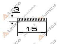 Полоса алюминиевая 15х3 мм анодированная ПАС-0836 (БПО-1109)