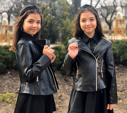 """Детская демисезонная куртка для девочек 662 """"Кожа Косуха"""" в расцветках"""