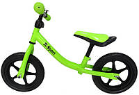 Беговел детский на 2 3 4 года R-Sport R1 колеса 12 пена зеленый, фото 1
