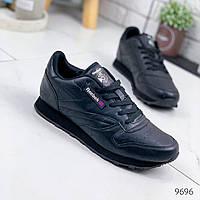 Кроссовки мужские в стиле Reebok черные 9696