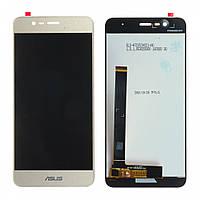 Дисплей (LCD) Asus ZenFone Pegasus 3 X008 с тачскрином, золотистый