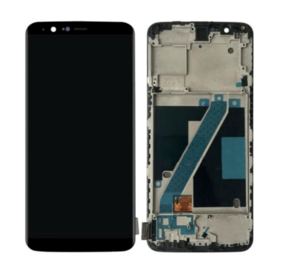 Дисплей (LCD) OnePlus 5T   A5010 TFT з тачскріном і рамкою, чорний