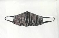 Маска защитная Пита зебра (4-х слойная для лица многоразовая)