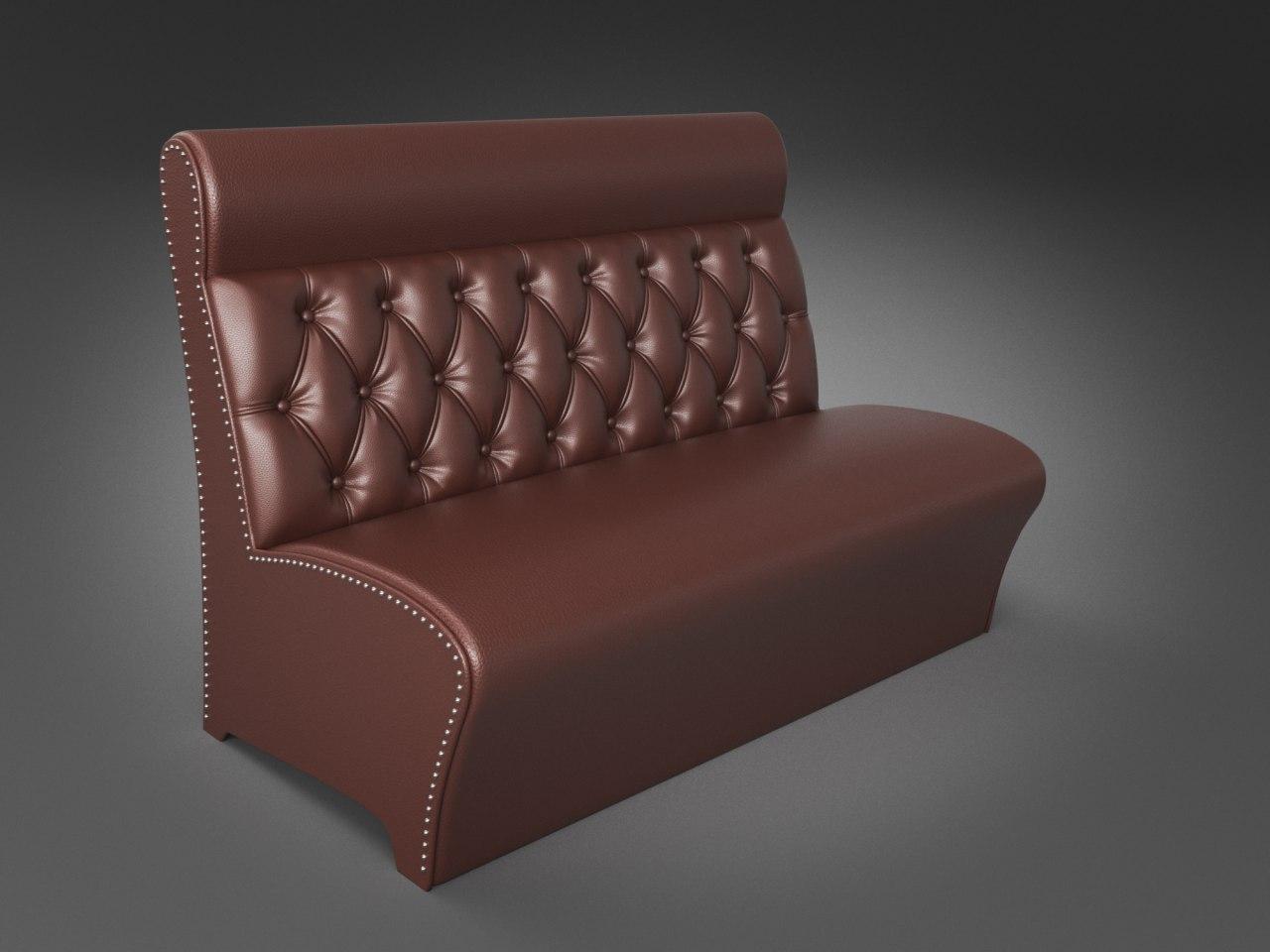 """Офисный диван """" Лассо"""" коричневый"""