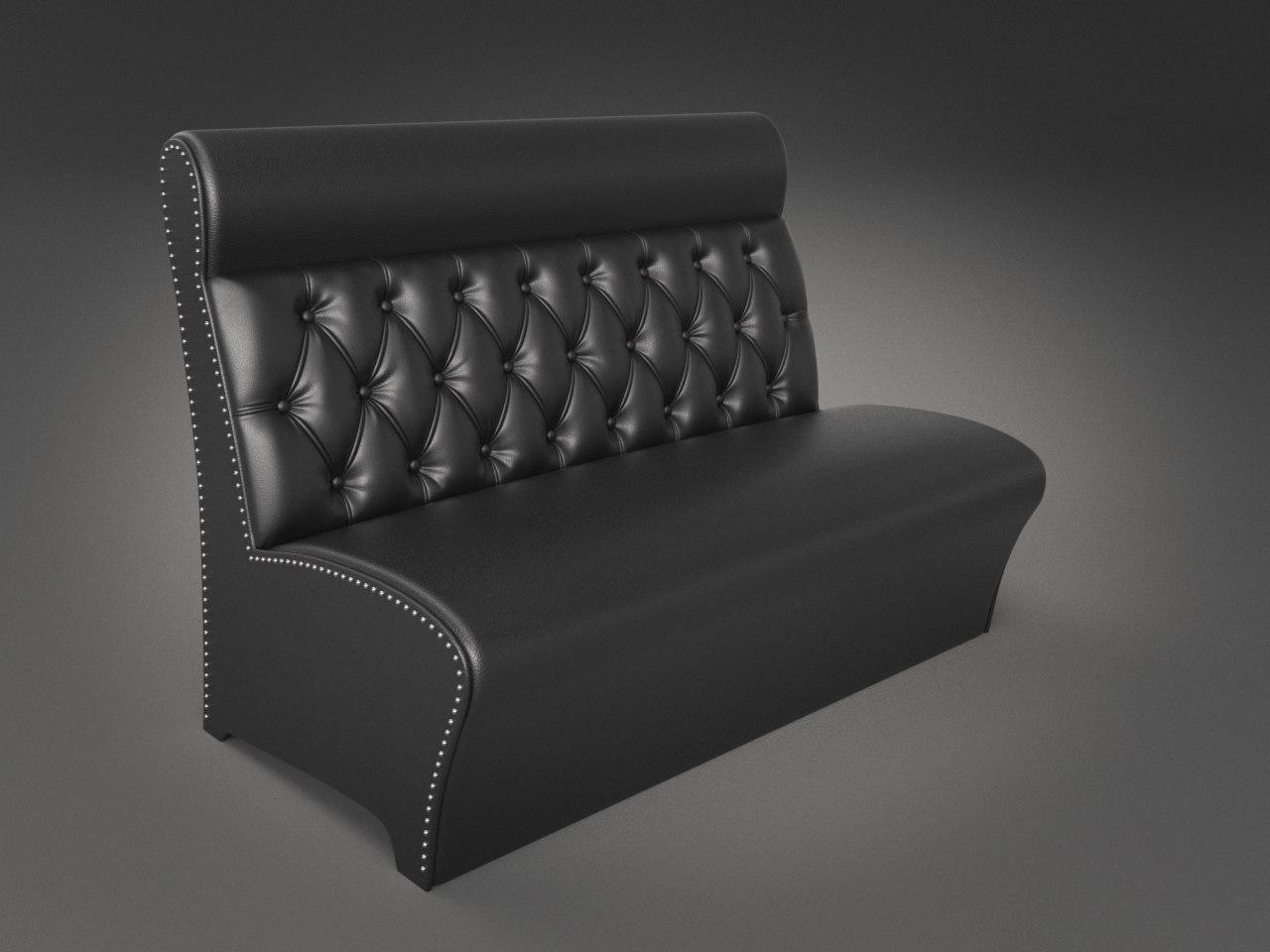 """Офисный диван """"Лассо"""" черный"""