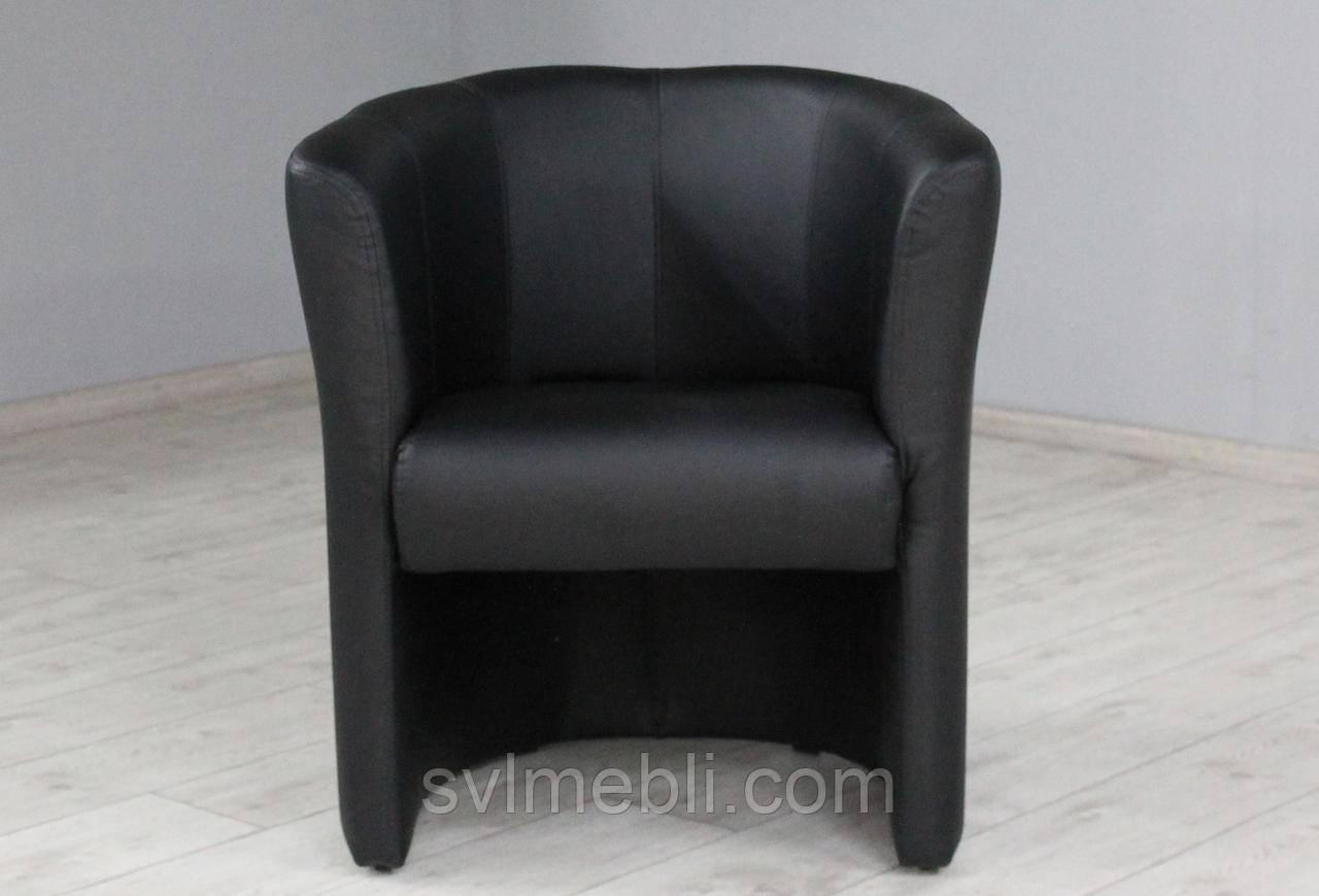 Кресло Бонус экокожа матовая черный