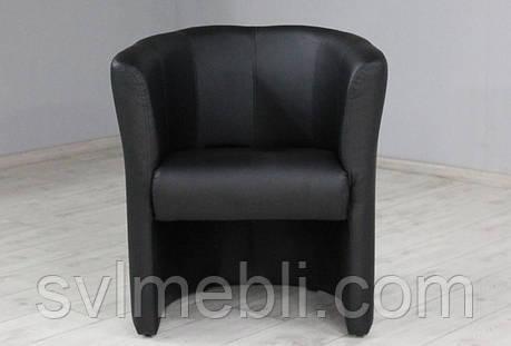 Кресло Бонус экокожа матовая черный, фото 2