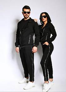 Парный спортивный костюм, для него и нее, мужской и женский, кофта на змейке.  Ткань: двухнитка.