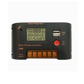 10A / 20A PWM Солнечная Контроллер зарядного устройства 12 В 24 В Авто LCD Дисплей Двойной USB 5V 2A Выход Солнечная Регулятор с управлением светом и