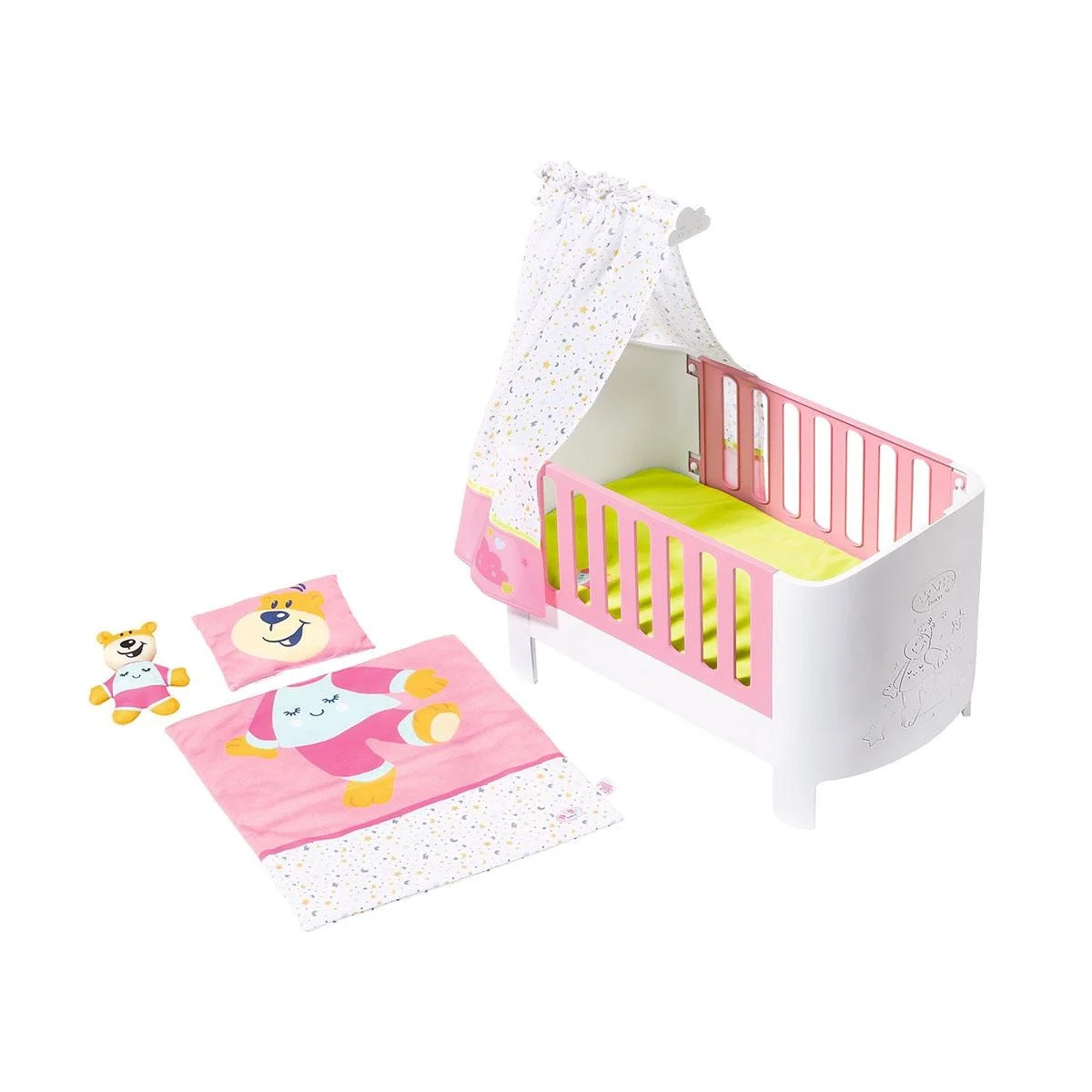 """Кроватка для куклы Baby Born """"Спокойной ночи"""" (звук, постель, игрушка), Zapf Creation 3+ (827420)"""