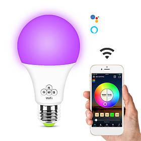 6,5 Вт E27 RGB + белый WIFI Smart Светодиодный Лампа Дистанционный Голосовое управление Лампа Работа с Alexa Google Home AC100-240V-1TopShop