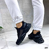 Тільки 36,38 р!!! Кросівки чорні жіночі текстиль, фото 5
