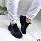 Тільки 36,38 р!!! Кросівки чорні жіночі текстиль, фото 6