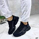 Тільки 36,38 р!!! Кросівки чорні жіночі текстиль, фото 7