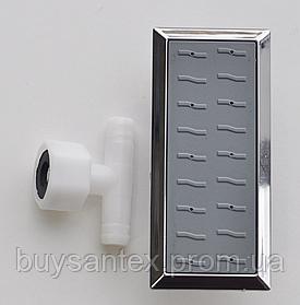 Форсунка для душової кабіни, хромована, прямокутна (Ф-011)