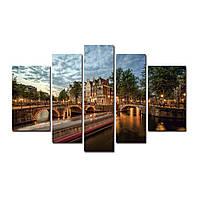 "Модульная картина на холсте ""Амстердам"" 160х90см, фото 1"