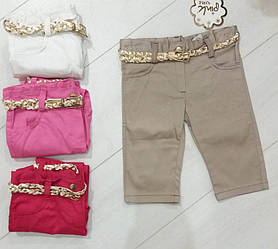 Бриджи  для девочки джинс, Baby Pink (размер 104)