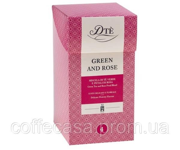 Зеленый чай DTè Green & Rose фильтр-пак 12 шт