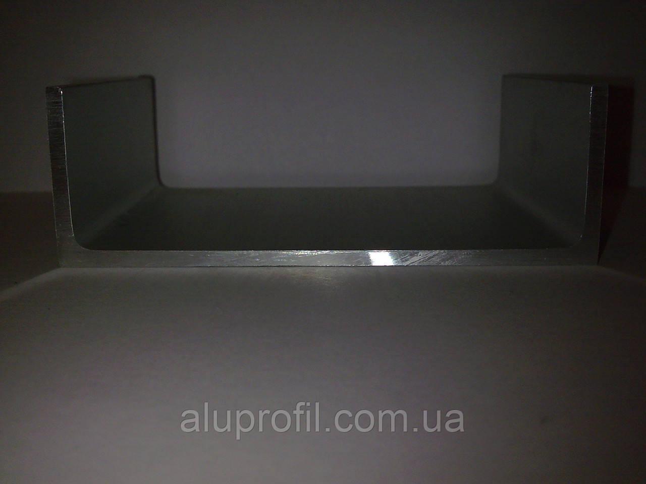 Алюминиевый профиль — п-образный алюминиевый профиль (швеллер) 120x40x4 Б/П