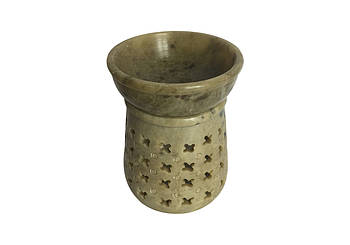 Аромалампа каменная Pashan Kala 10х7,5х7,5 см Зеленый (АРТ.508)