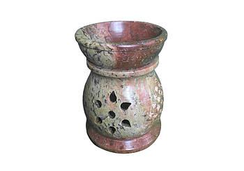 Аромалампа каменная круглая Pashan Kala 10х7.5х7.5 см (АРТ.506)