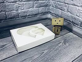 *10 шт* / Коробка для пряников / 150х200х30 мм / Белая / окно-2 Сердца
