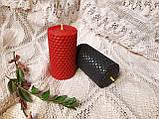 Набір свічок з кольорової вощини червоного та чорного кольору, фото 5