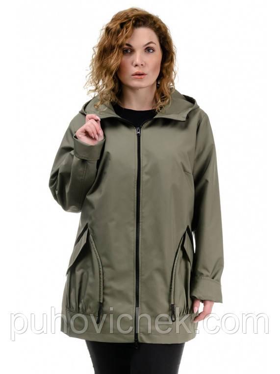 Куртка жіноча з капюшоном великі розміри інтернет магазин розміри 54-64