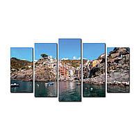 "Модульная картина на холсте ""Италия"" 150х70см, фото 1"