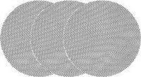 Сетка абразивная твердая круглая 225мм на липучке G60 - G220 YATO, 3 шт.