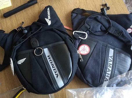 Мото сумка набедренная  Honda Suzuki текстильная, фото 2