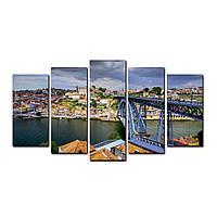 """Модульная картина на холсте """"Порту 150х70см, фото 1"""