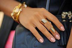 Модные позолоченные кольца 2020