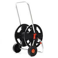 Садовая тележка Шланг с 2 колесами Садовая тележка Шланг вмещает 1/2 дюймов 45м Шланг обмотки Инструмент тележка для хранения труб-1TopShop