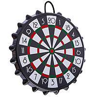 Мишень для игры в дартс магнитная с крышками BOTTLE CAP, d-23см, в комплекте 10 крышек (A003P)