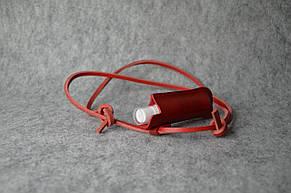 Кожаный чехол на санитайзер,шнурок
