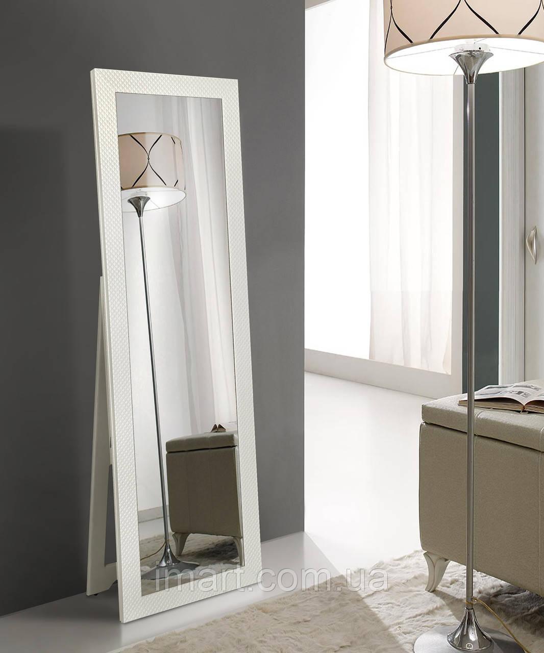 Зеркало напольное, белое 1900x600