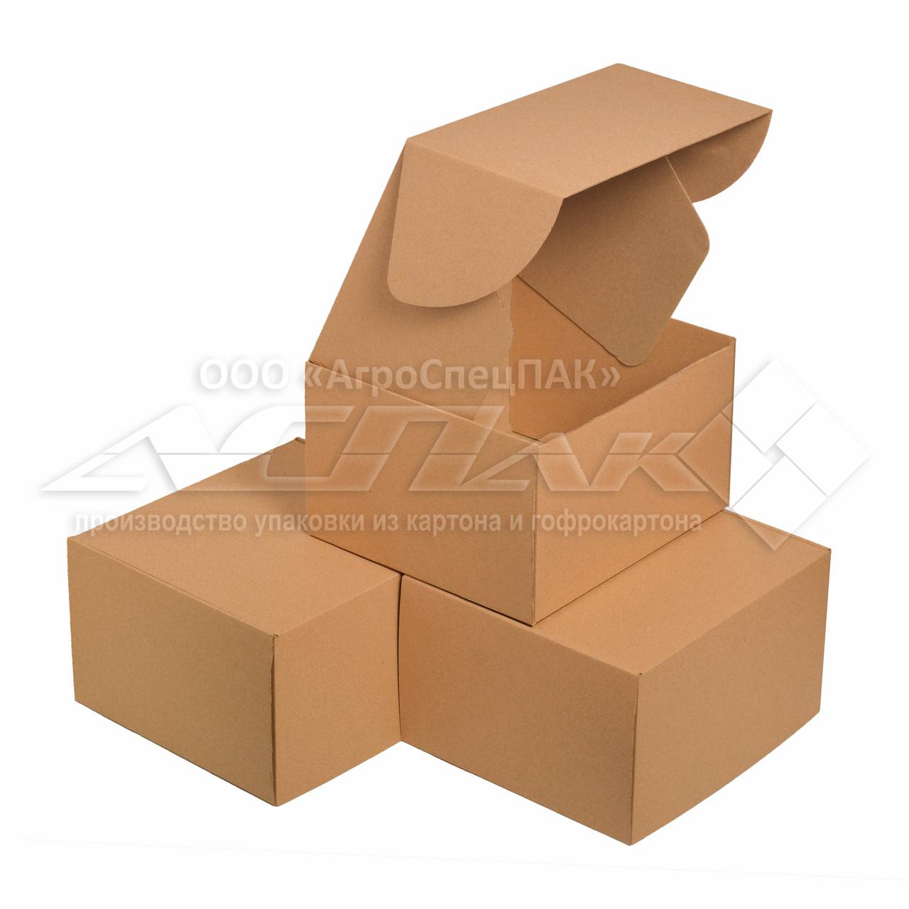 Упаковочные коробки 320x290x190 бурые. Крафтовые коробки.