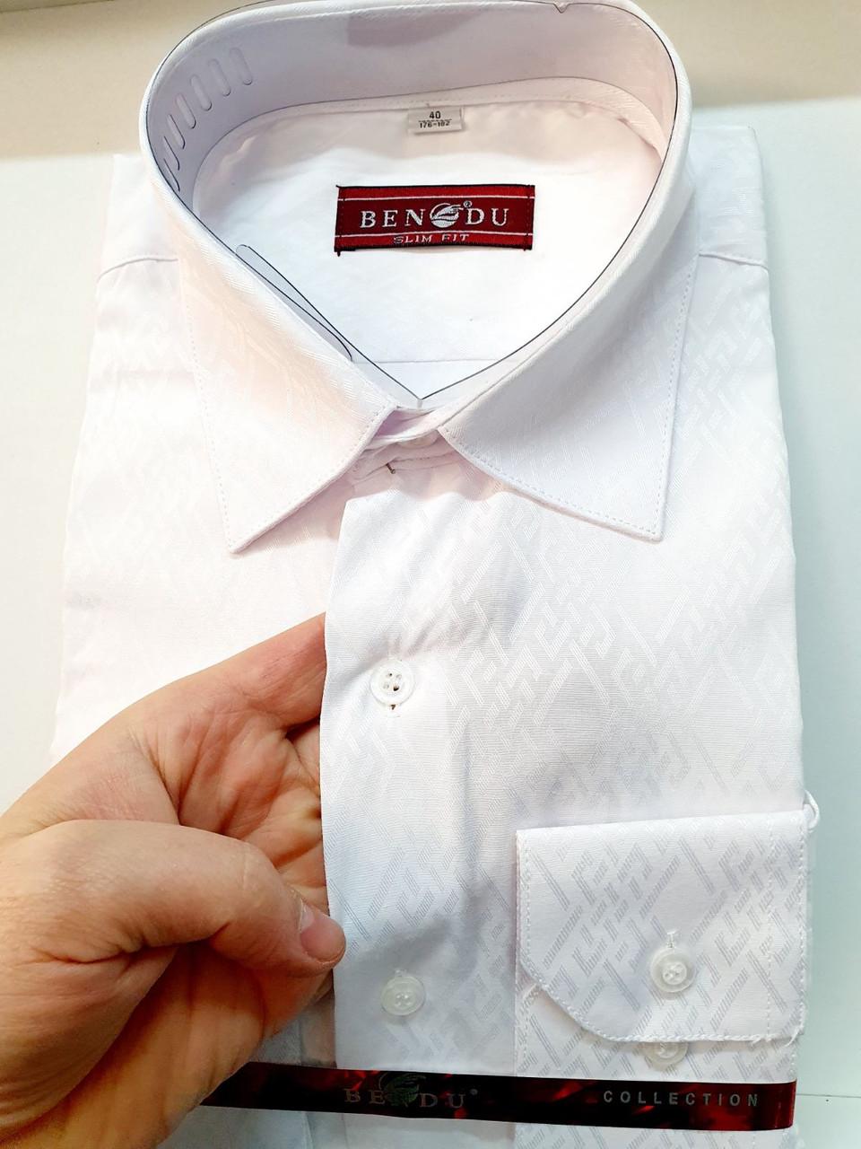 Чоловіча біла сорочка Bendu - 0540