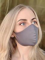 Защитная маска на лицо многоразовая Silenta Woman, Графитовый