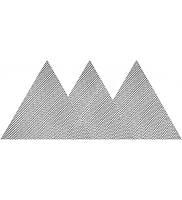 Сетка абразивная твердая треугольная 280мм G60 -  G220 на липучке YATO, 3шт.