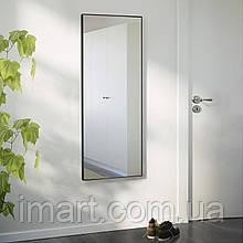 Ростовое зеркало в черном цвете, алюминий