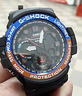 Часы мужские спортивные Casio Gulfmaster G-Shock черные противоударные с подсветкой копия