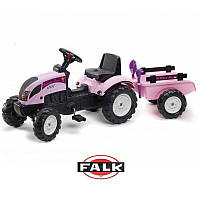 Детский педальный трактор с прицепом Princess Falk 2056C (дитячий педальний трактор з причепом), фото 1