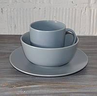 """Набор столовой посуды """"Jacob"""", 3 предмета (голубой матовый), фото 1"""
