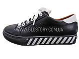 Жіночі чорні шкіряні кросівки, фото 2
