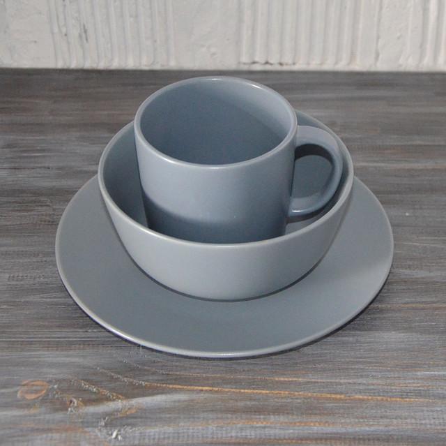 """Набор столовой посуды """"Jacob"""", 3 предмета (голубой матовый)"""