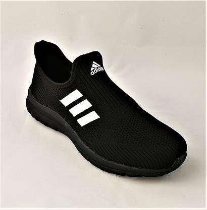 Кросівки Adidas Сіточка Чоловічі Чорні Літні Адідас Мокасини (розміри: 42,43,44) Відео Огляд, фото 3
