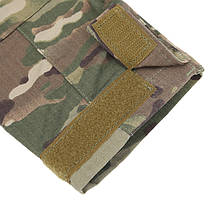 Тактическая рубашка Lesko A655 Camouflage 3XL (40 р.) мужская милитари с длинным рукавом камуфляж армейская, фото 3