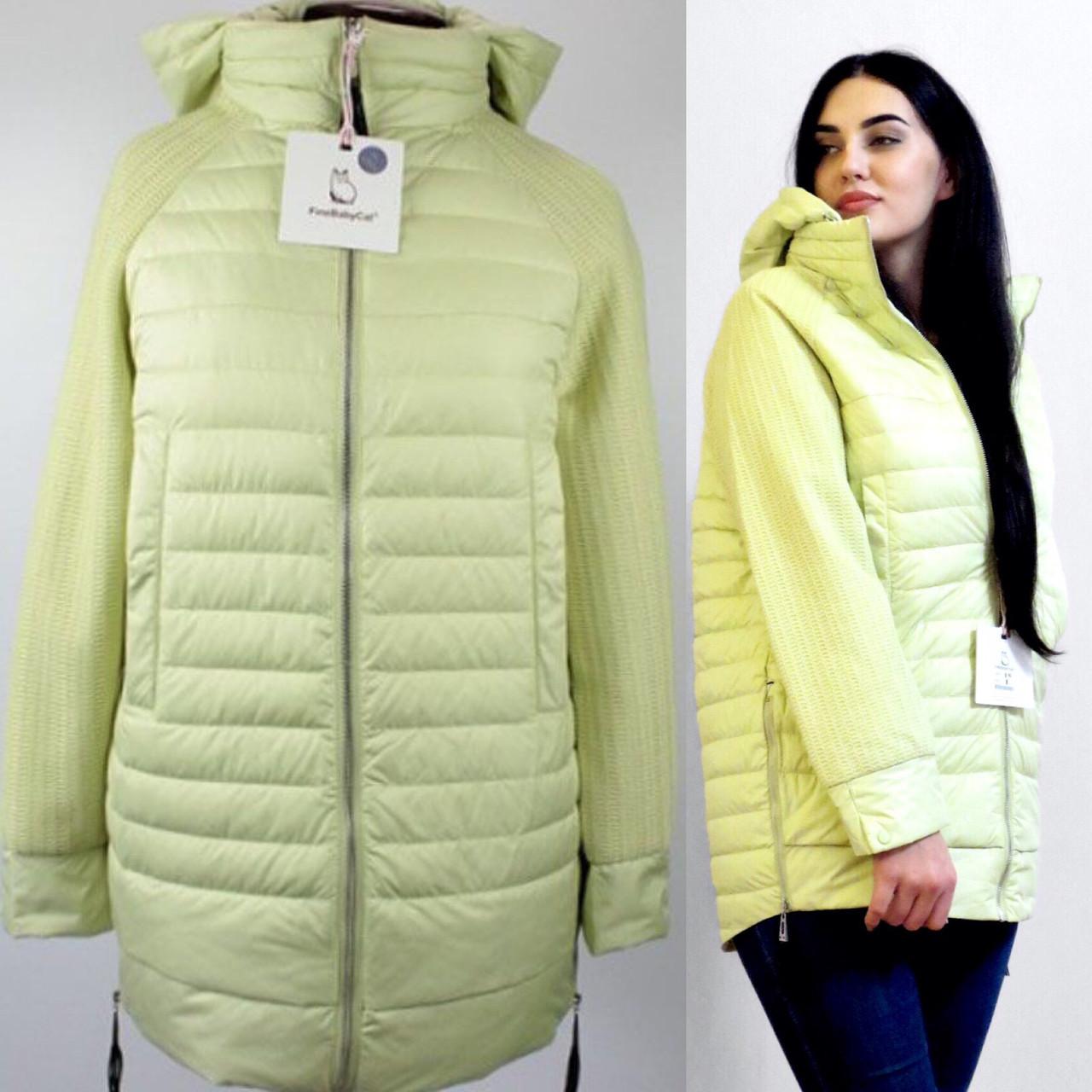 Ярко Желтая Демисезонная Куртка FineBabyCat  Утеплитель Тинсулейт В Наличии Размер 42-44